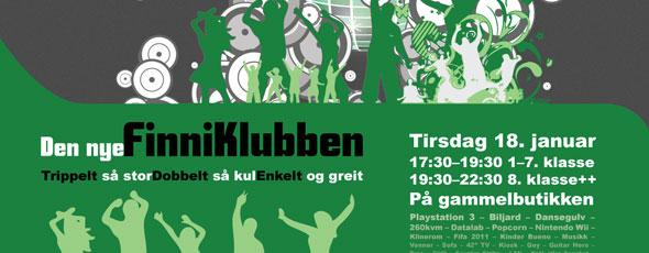 Oppstartsplakat for Finneidfjord Ungdomsklubb